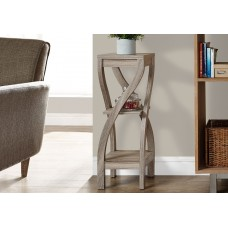 """I 2480 ACCENT TABLE - 32""""H / DARK TAUPE"""