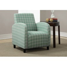 """I 8043 ACCENT CHAIR - FADED GREEN """" ANGLED KALEIDOSCOPE """""""
