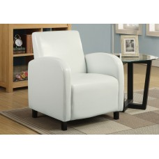 I 8049 ACCENT CHAIR - WHITE LEATHER-LOOK FABRIC