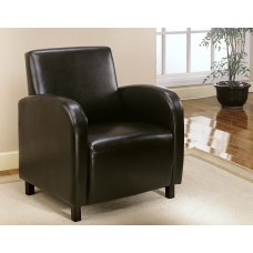 I 8050 ACCENT CHAIR - DARK BROWN LEATHER-LOOK FABRIC