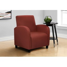 I 8051 ACCENT CHAIR - RED LEATHER-LOOK FABRIC