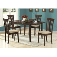 """I 1897 ADJUSTABLE DINING TABLE - 36""""X 48"""" X 60"""" / ESPRESSO WITH A LEAF"""