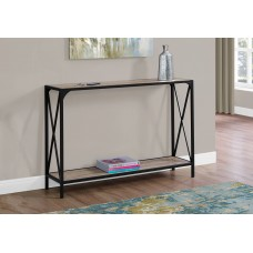 """I 2125 ACCENT TABLE - 48""""L / DARK TAUPE / BLACK HALL CONSOLE"""