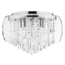 CAT-19-8 (DAI) EIGHT LIGHT CRYSTAL FIXTURE CLEARANCE FLOOR MODEL
