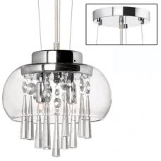 CAT-9-2 (DAI) CLEARANCE TWO LIGHT CRYSTAL FIXTURE