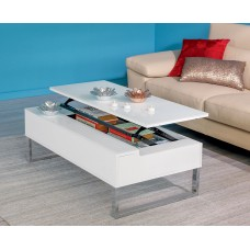 JACK COFFEE TABLE  LIFT UP WHITE