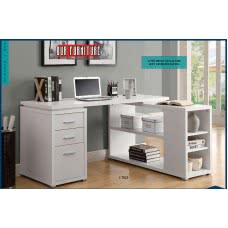 I 7023 COMPUTER DESK - WHITE LEFT OR RIGHT FACING CORNER