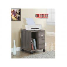 I 7056 OFFICE CABINET - DARK TAUPE WITH 2 DRAWERS ON CASTORS