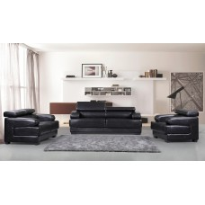ES-2810-0  BROWN 3 PCS. SOFA SET