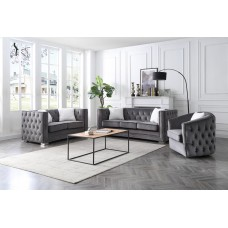 ES-3225-0 GRAY 3 PCS. SOFA SET
