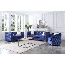 ES-3225-0 BLUE 3 PCS. SOFA SET