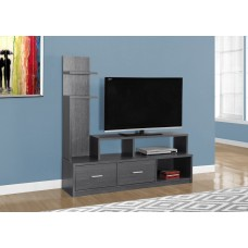 "I 2698 TV STAND - 60""L / GREY WITH A DISPLAY TOWER"