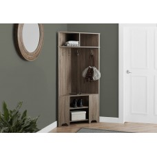 "I 2771 HALL TREE - 67""H / DARK TAUPE CORNER UNIT"
