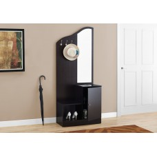"I 2774 HALL TREE - 75""H / CAPPUCCINO STORAGE UNIT / MIRROR"