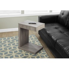 I 3191 ACCENT TABLE - DARK TAUPE WITH A DRAWER