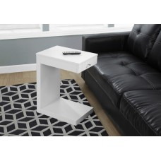 I 3192 ACCENT TABLE - WHITE WITH A DRAWER