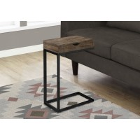 I 3406 ACCENT TABLE - BROWN RECLAIMED WOOD-LOOK / BLACK / DRAWER