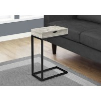 I 3407 ACCENT TABLE - GREY RECLAIMED WOOD-LOOK / BLACK / DRAWER