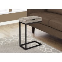 I 3408 ACCENT TABLE - TAUPE RECLAIMED WOOD-LOOK / BLACK / DRAWER
