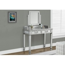"I 3711 VANITY - 36""L / BRUSHED SILVER / MIRROR / 2 DRAWERS"