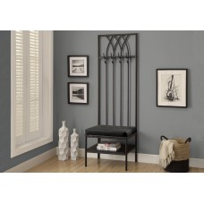 "I 4540 BENCH - 72""H / BLACK HAMMERED METAL HALL ENTRY"