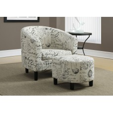 I 8058 ACCENT CHAIR - 2PCS SET / VINTAGE FRENCH FABRIC