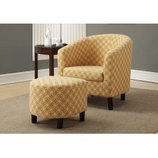 "I 8059 ACCENT CHAIR - 2PCS SET/ BURNT YELLOW "" CIRCULAR """