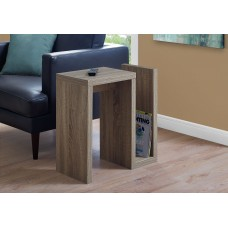 "I 2090 ACCENT TABLE - 24""H / DARK TAUPE"