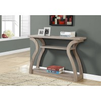 """I 2446 ACCENT TABLE - 47""""L / DARK TAUPE HALL CONSOLE"""