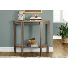 """I 2452 ACCENT TABLE - 36""""L / DARK TAUPE HALL CONSOLE"""