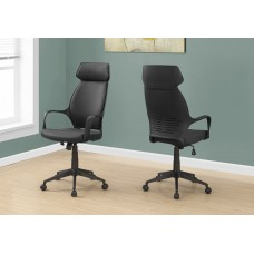 I 7249 OFFICE CHAIR - BLACK MICROFIBER / HIGH BACK EXECUTIVE