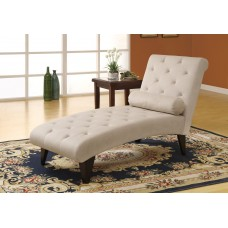 I 8032 CHAISE LOUNGER - TAUPE VELVET FABRIC
