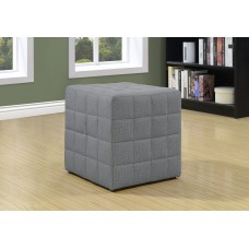 I 8895 OTTOMAN - LIGHT GREY LINEN-LOOK FABRIC