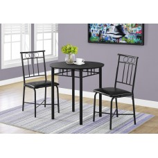 I 1013 DINING SET - 3PCS SET / BLACK METAL AND TOP