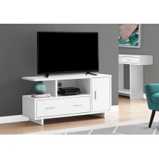 "I 2800 TV STAND - 48""L / WHITE WITH STORAGE"