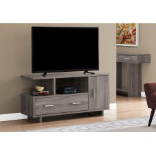 "I 2802 TV STAND - 48""L / DARK TAUPE WITH STORAGE"