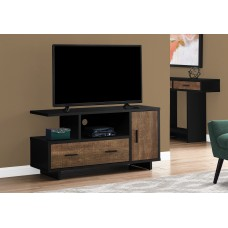 "I 2803 TV STAND - 48""L / BLACK / BROWN RECLAIMED WOOD-LOOK"