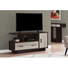 "I 2805 TV STAND - 48""L / ESPRESSO / TAUPE RECLAIMED WOOD-LOOK"