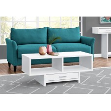I 2806 COFFEE TABLE - WHITE WITH STORAGE