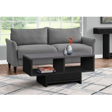 I 2807 COFFEE TABLE - BLACK / GREY TOP WITH STORAGE