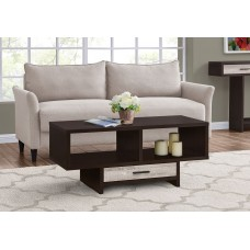 I 2811 COFFEE TABLE - ESPRESSO / TAUPE RECLAIMED WOOD-LOOK