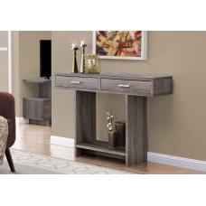 """I 2814 ACCENT TABLE - 48""""L / DARK TAUPE WITH DRAWERS"""