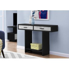 """I 2816 ACCENT TABLE - 48""""L / BLACK / GREY RECLAIMED WOOD-LOOK"""