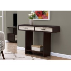 """I 2817 ACCENT TABLE - 48""""L / ESPRESSO / TAUPE RECLAIMED WOOD"""