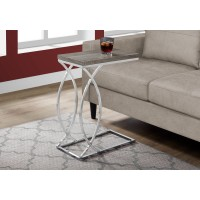 I 3186 ACCENT TABLE - DARK TAUPE WITH CHROME METAL