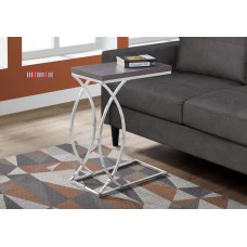 I 3187 ACCENT TABLE - GREY WITH CHROME METAL