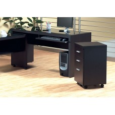 I 7004 -OFFICE CABINET - CAPPUCCINO 2 DRAWER ON CASTORS