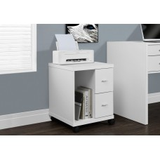 I 7055 OFFICE CABINET - WHITE WITH 2 DRAWERS ON CASTORS