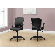 I 7244 OFFICE CHAIR - BLACK LEATHER-LOOK / MULTI POSITION