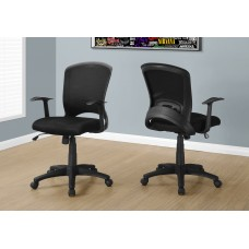I 7265 OFFICE CHAIR - BLACK MESH MID-BACK / MULTI-POSITION